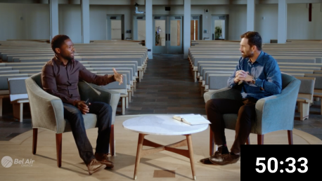 David Oyelowo and Dr. Drew Sams at BelAir Church